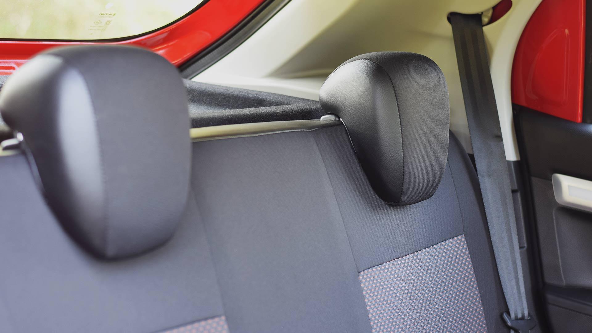 The Suzuki S-Presso rear passenger seats