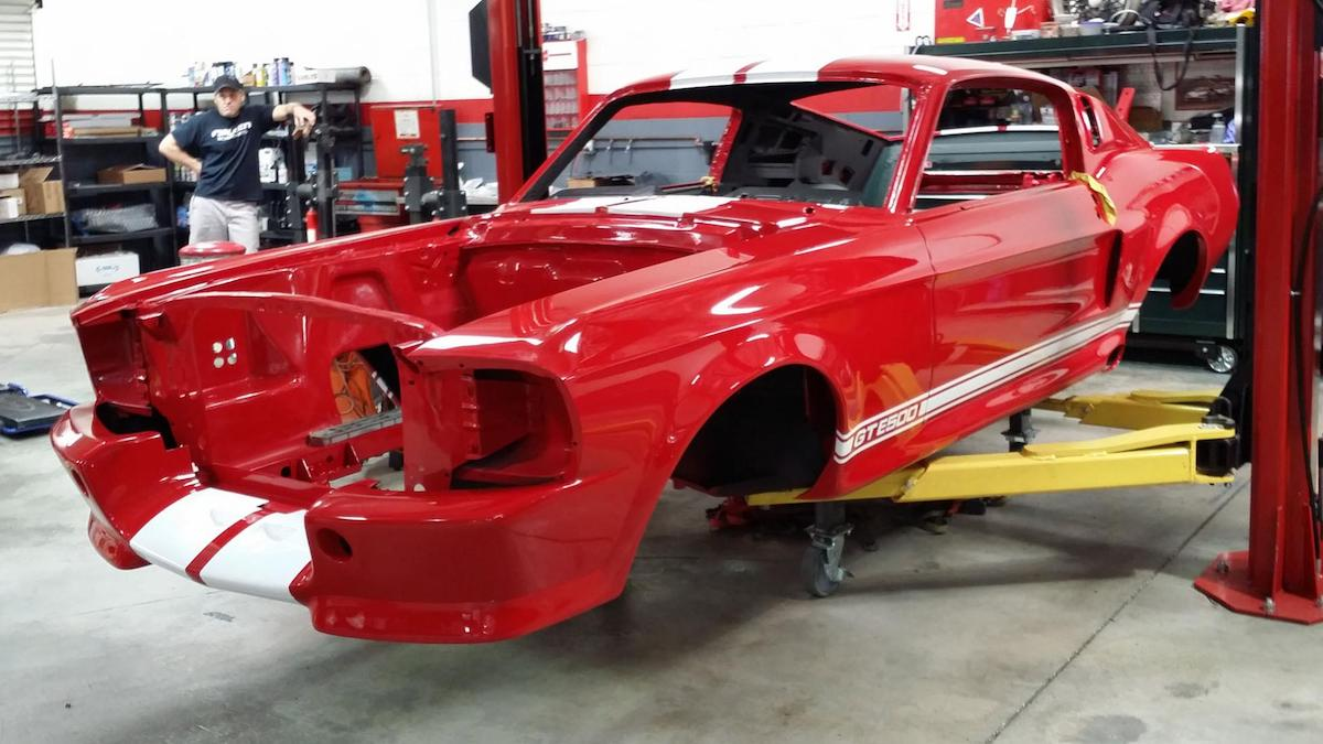 The 'Eleanor' Ford Mustang by Fusion Motor frame