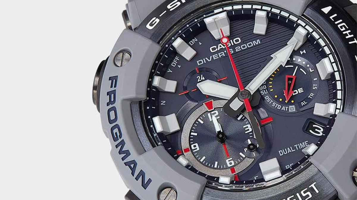The Royal Navy x G-Shock Frogman watch face
