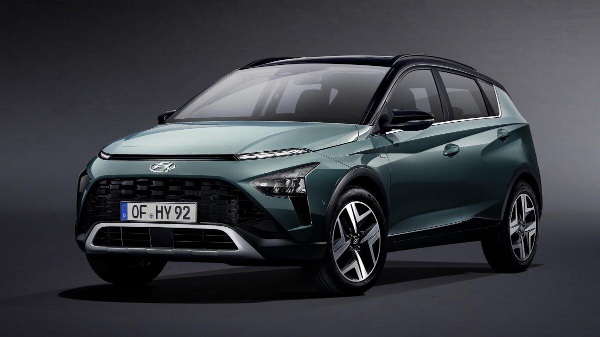 The Hyundai Bayon angled front view