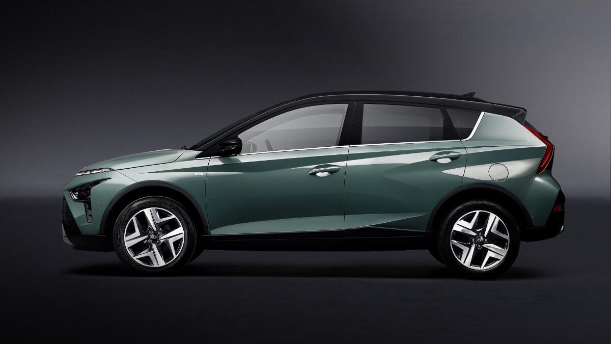 The Hyundai Bayon profile view