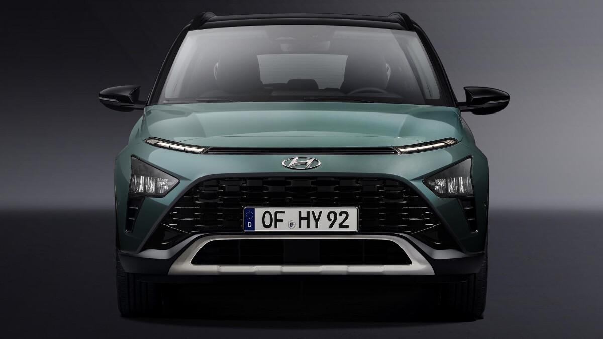 The Hyundai Bayon front view