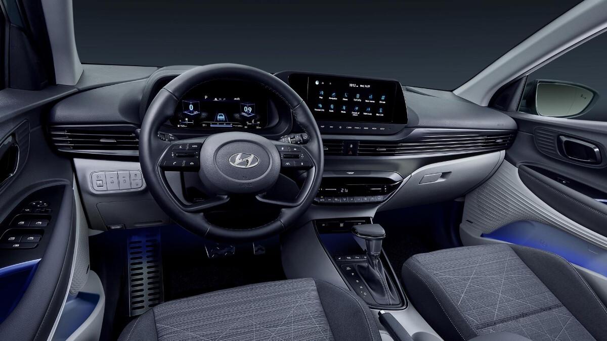 The Hyundai Bayon interior, dashboard
