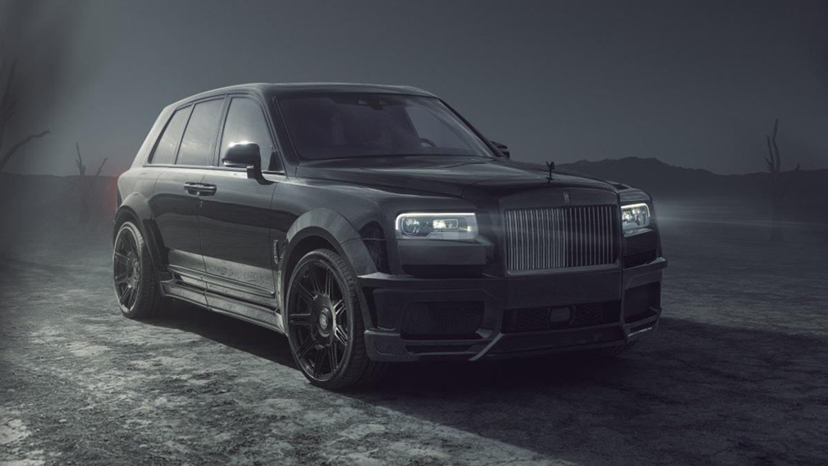 The SPOFEC Rolls-Royce Cullinan Black Badge front view