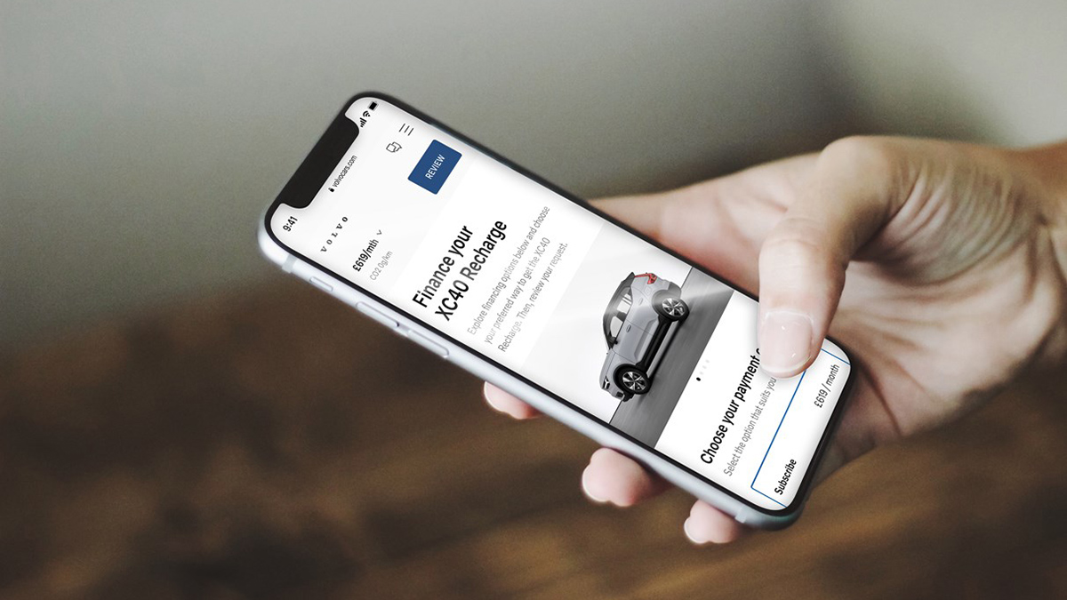 Buying a Volvo from their Website