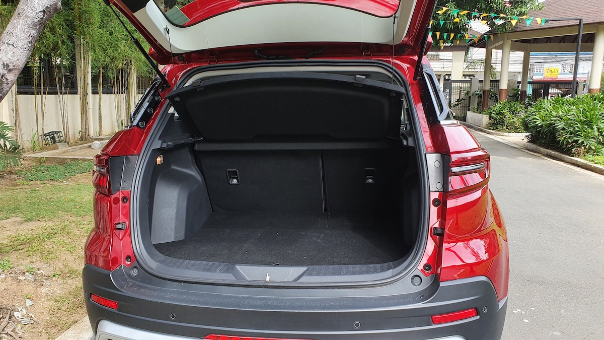 The 2021 Ford Territory trunk