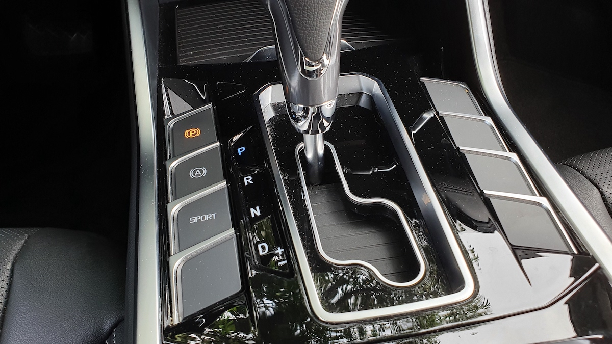 The 2021 Ford Territory gear stick