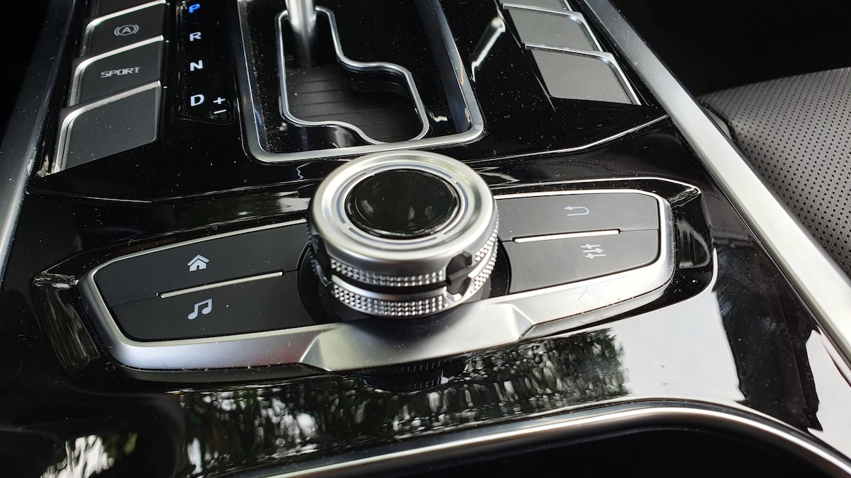 The 2021 Ford Territory center console controls