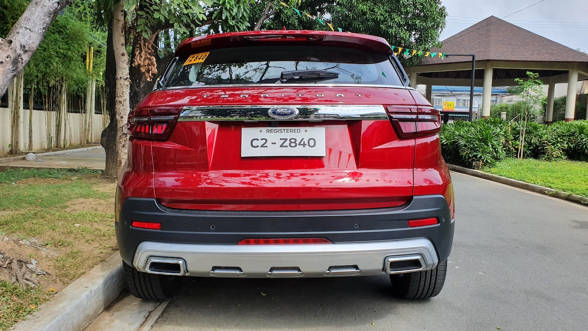 The 2021 Ford Territory rear view