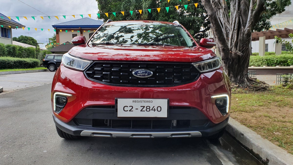 The 2021 Ford Territory front view