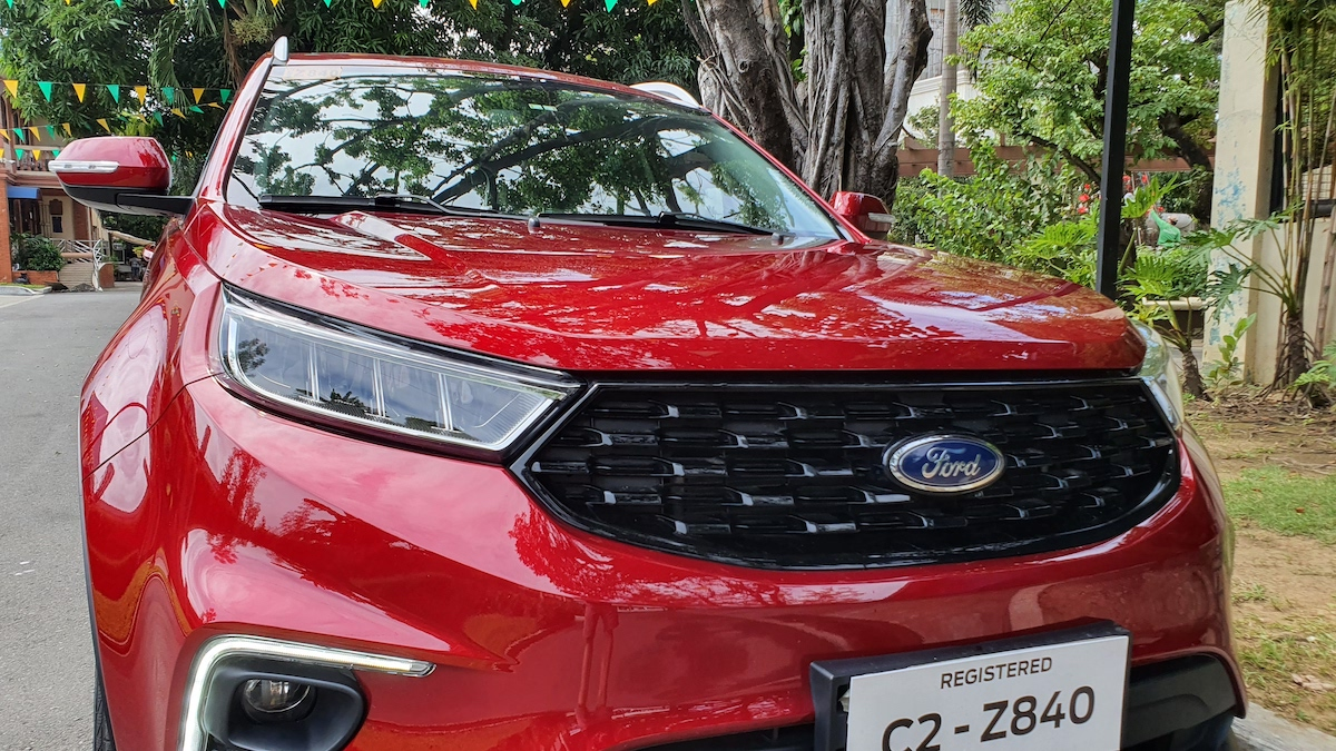 The 2021 Ford Territory front close up