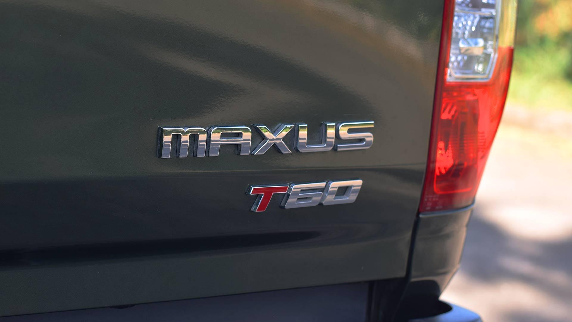 The Maxus T60 rear emblem