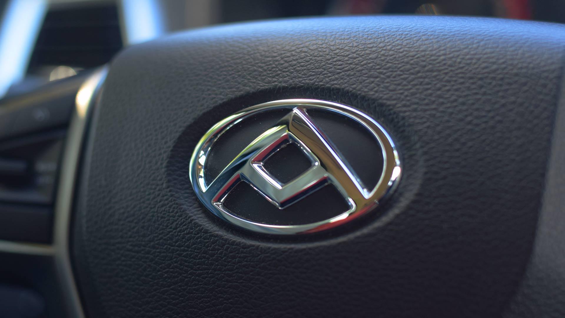 The Maxus T60 steering wheel emblem