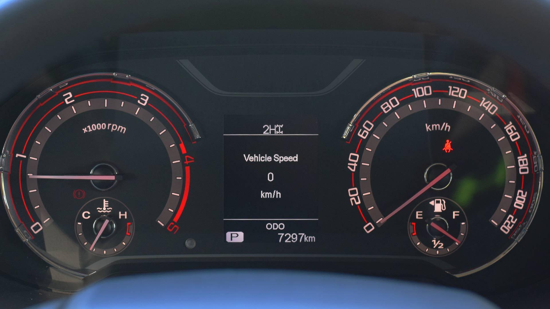 The Maxus T60 odometer