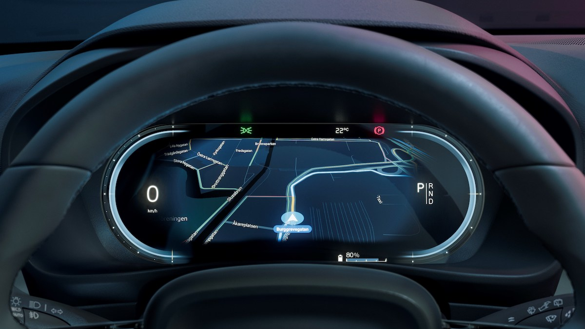 The Volvo C40 Recharge hybrid odometer