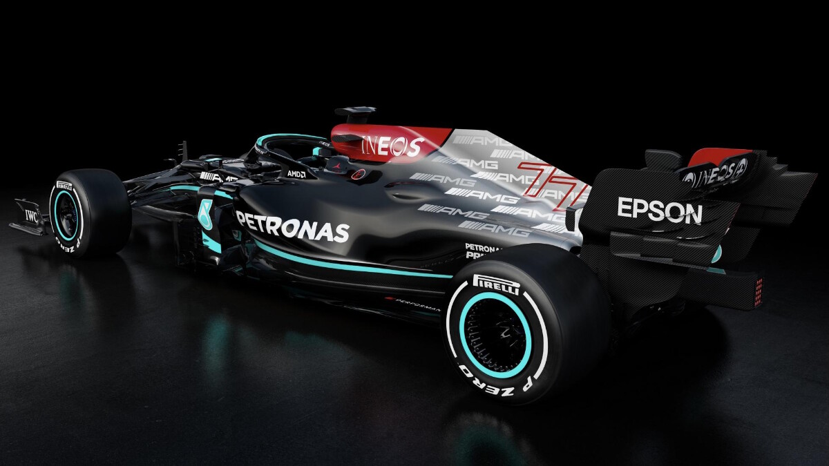 The Mercedes-AMG W12 E Performance alternative angle