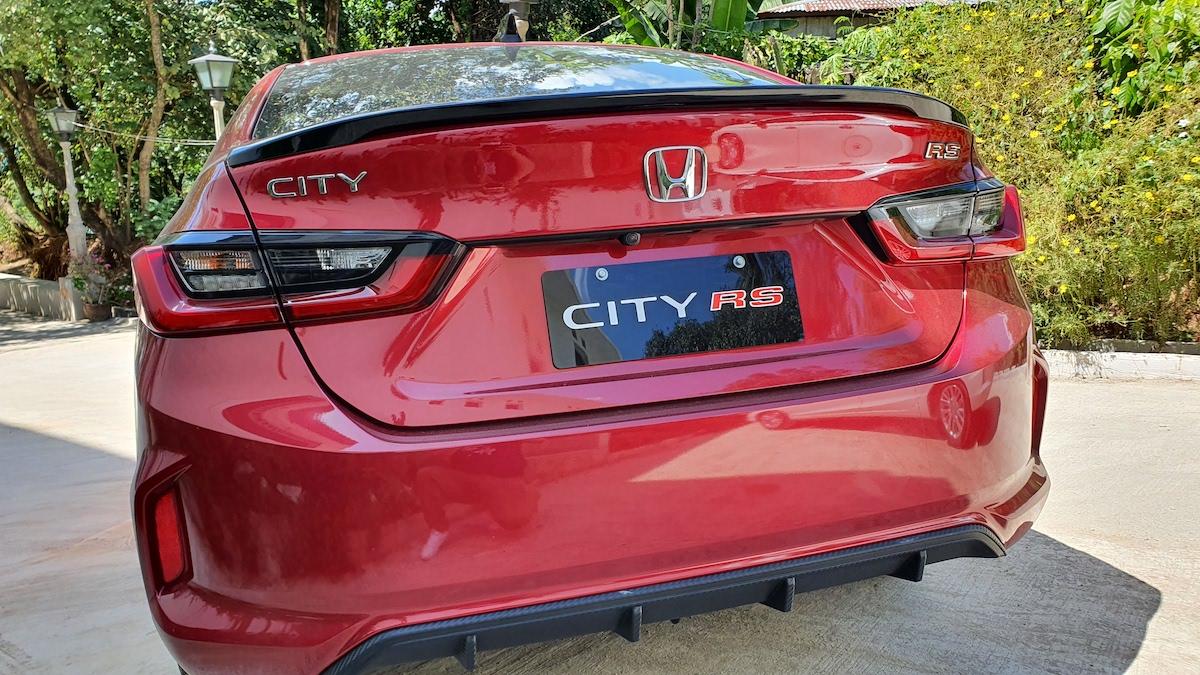 The 2021 Honda City rear view