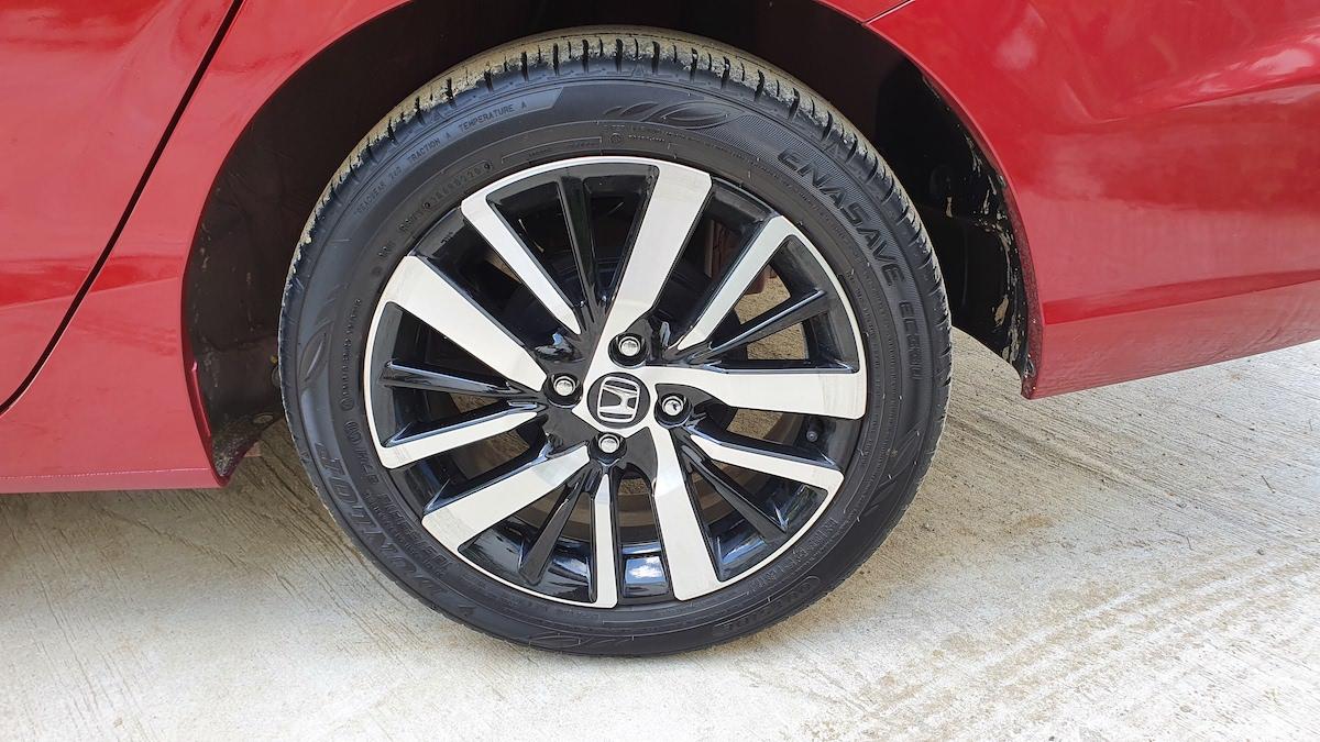 The 2021 Honda City rear tire