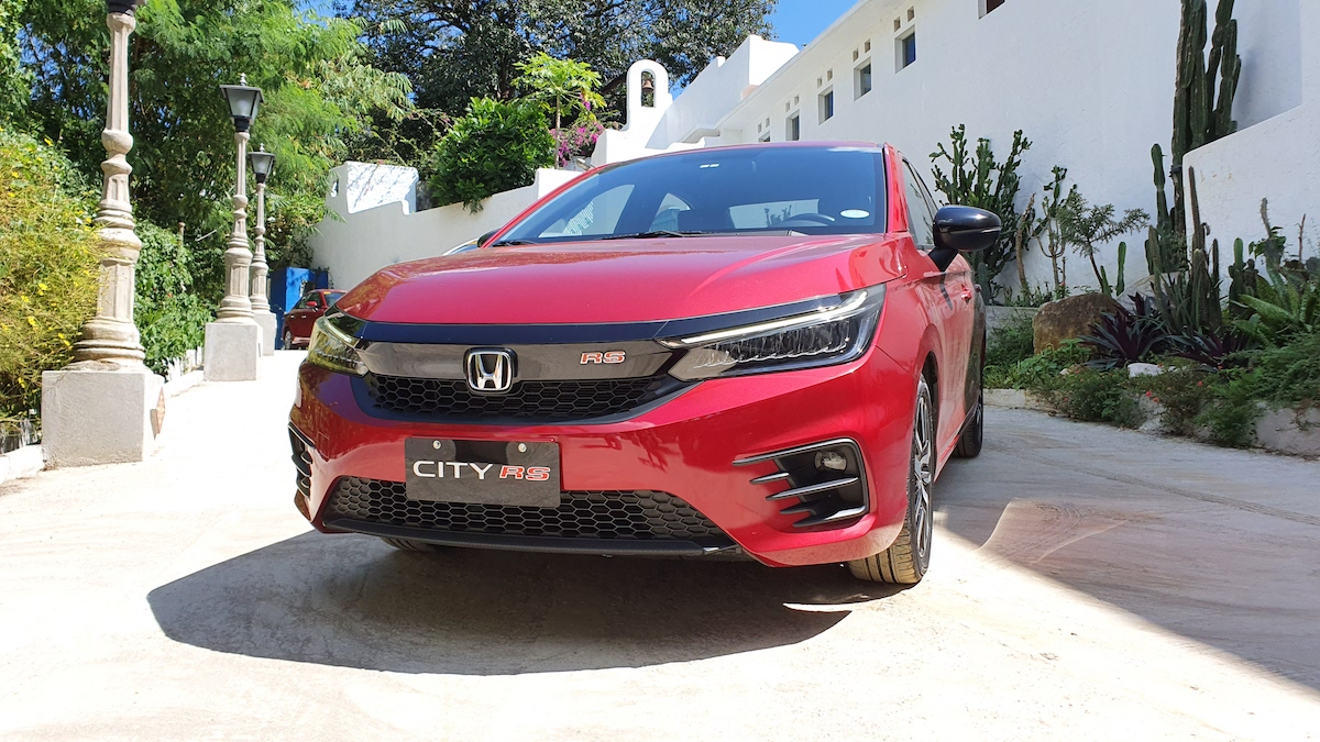 The 2021 Honda City angled front view