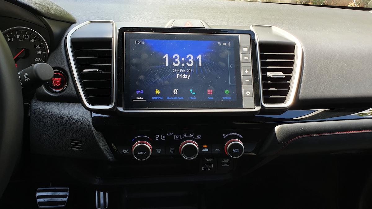 The 2021 Honda City media panel and controls