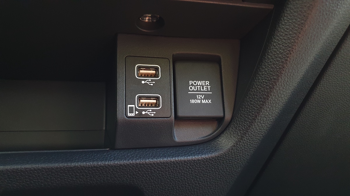 The 2021 Honda City power outlets