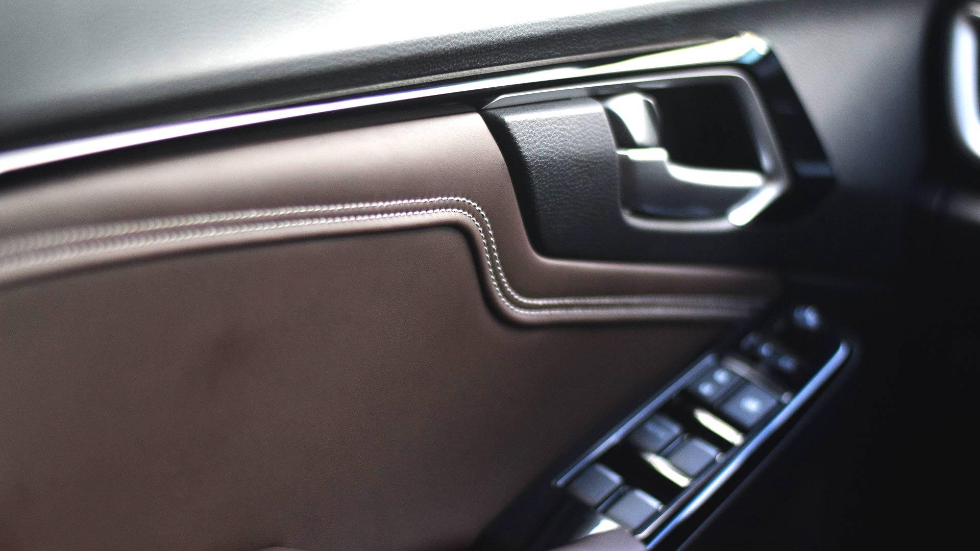 The 2021 Isuzu D-Max driver's door controls