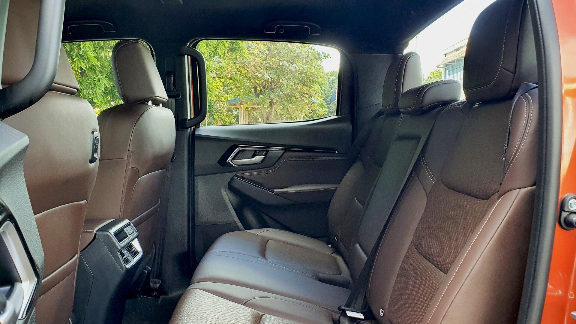 The 2021 Isuzu D-Max rear passenger seats