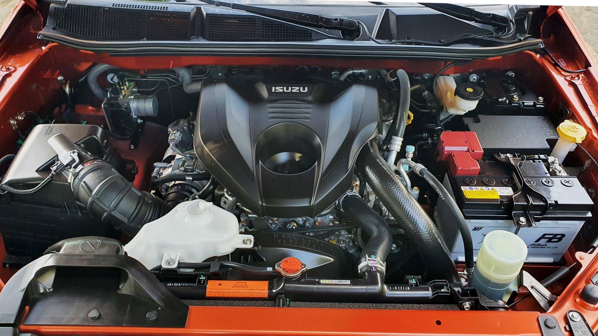 The 2021 Isuzu D-Max engine