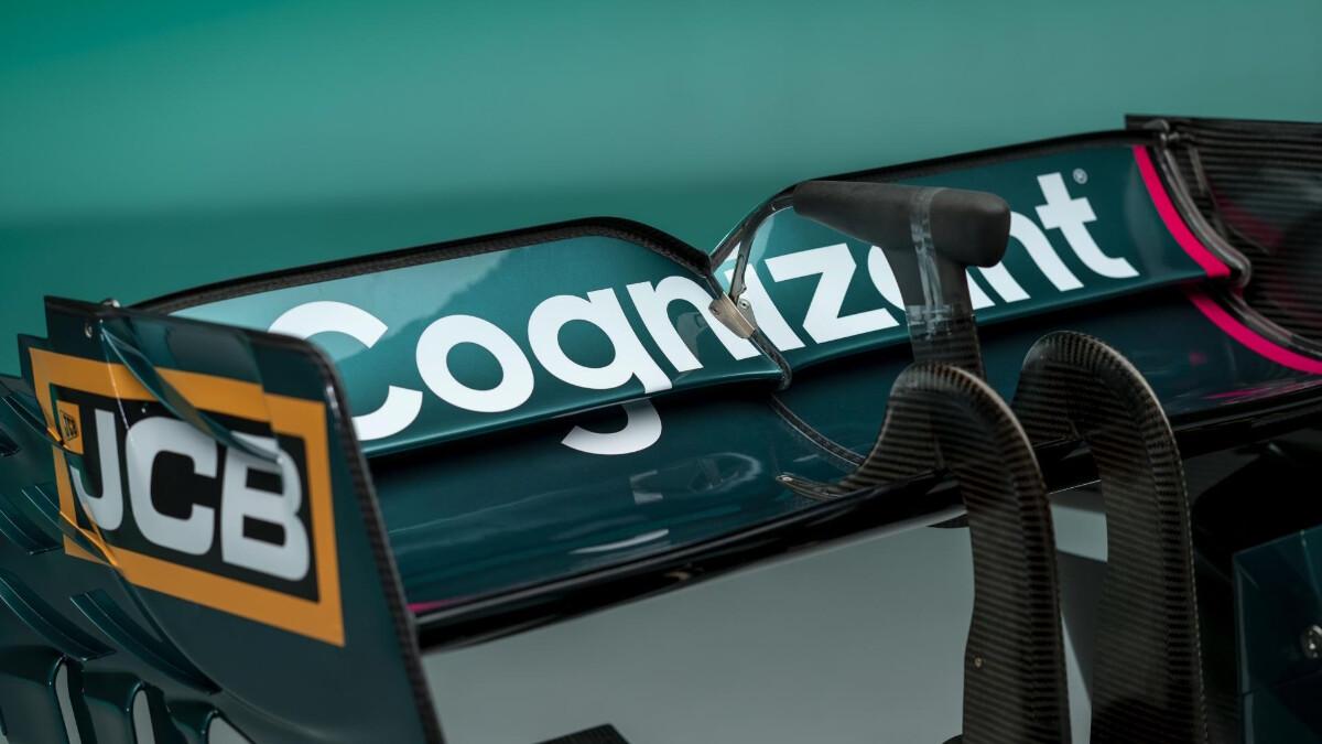 The Aston Martin AMR21 spoiler