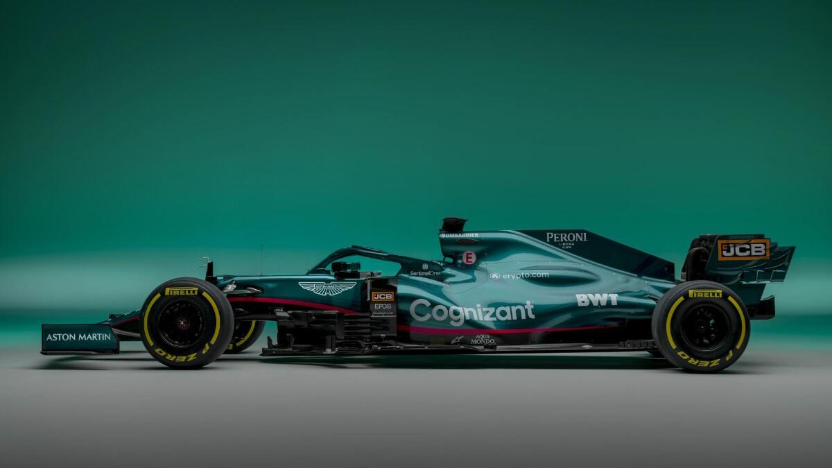 The Aston Martin AMR21 profile view