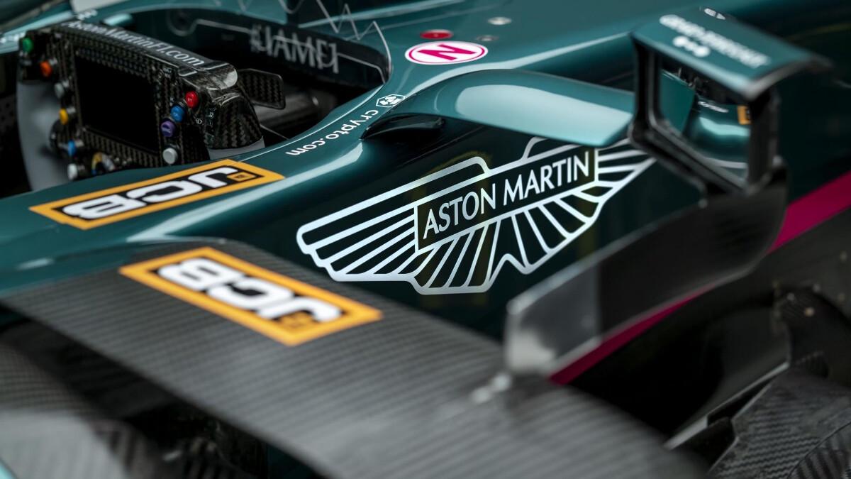 The Aston Martin AMR21 close up