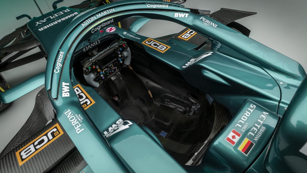 The Aston Martin AMR21 cockpit