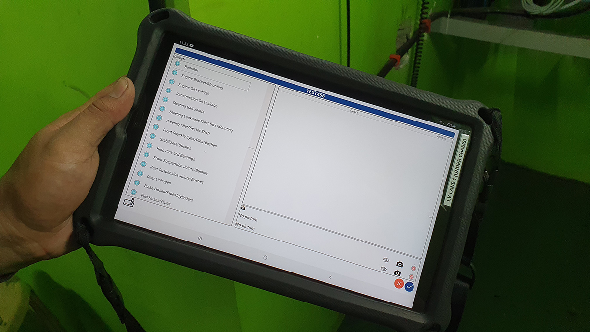 Computerized testing for a 2009 Toyota Fortuner