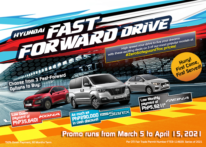 Hyundai 2021 promos and discounts promotional poster