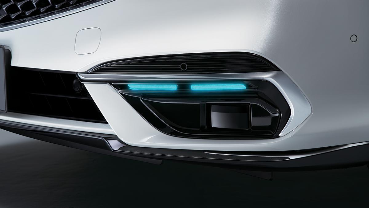 The Honda Legend Hybrid EX sensors