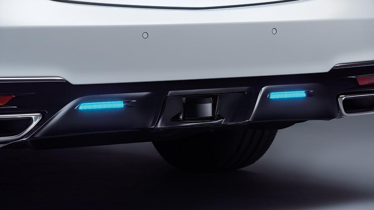 The Honda Legend Hybrid EX rear sensors
