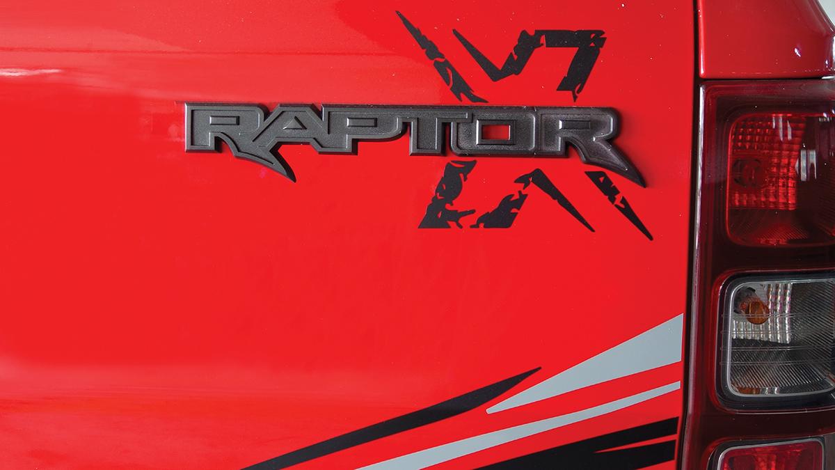 The Ford Ranger Raptor X Special Edition emblem