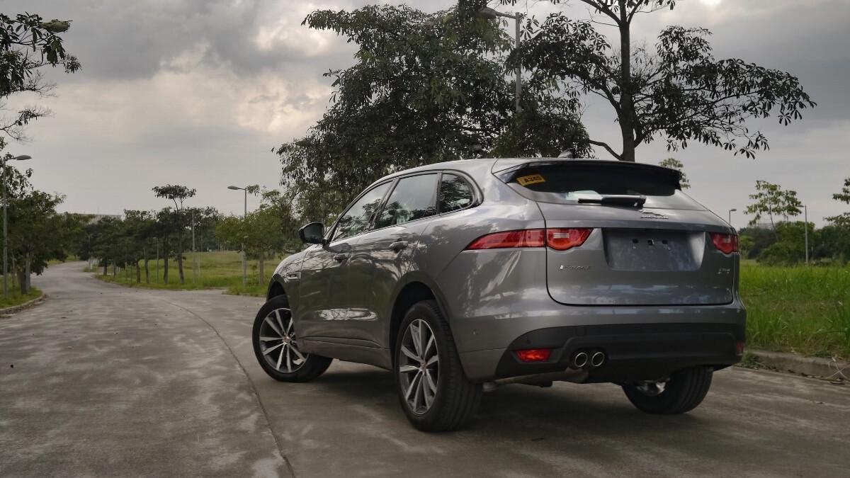 Jaguar F-Pace R-Sport Angled Rear View