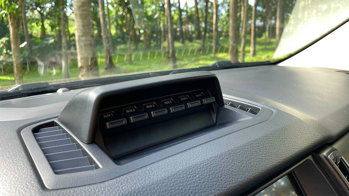 Ford Ranger FX4 Max Dashboard Aux Ports