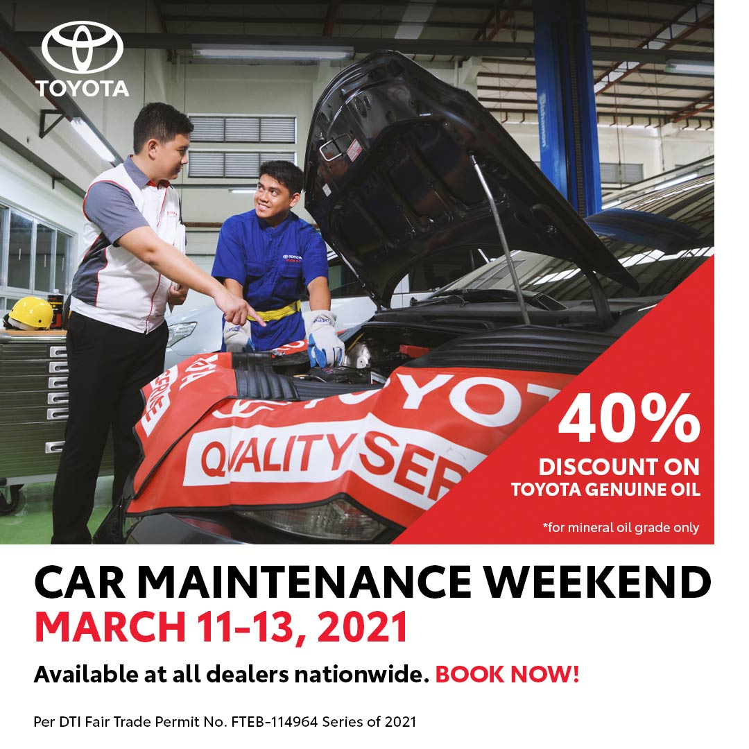 Toyota promotional poster for 40% off on Toyota Genuine Motor Oil
