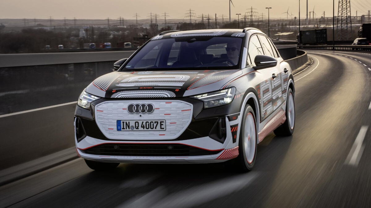 The Audi Q4 e-tron Alternative Front View