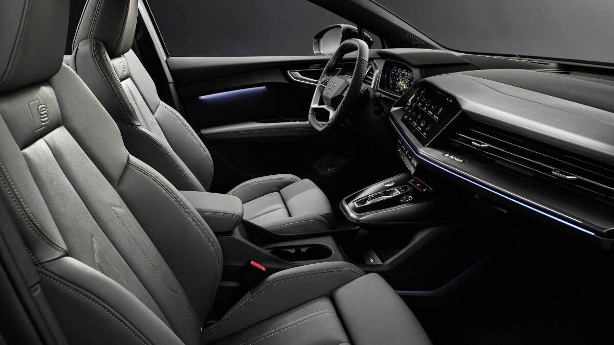 The Audi Q4 e-tron Front Passenger Seats