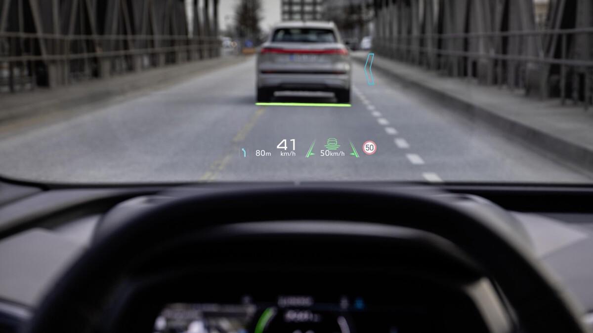 The Audi Q4 e-tron Windshield Feature