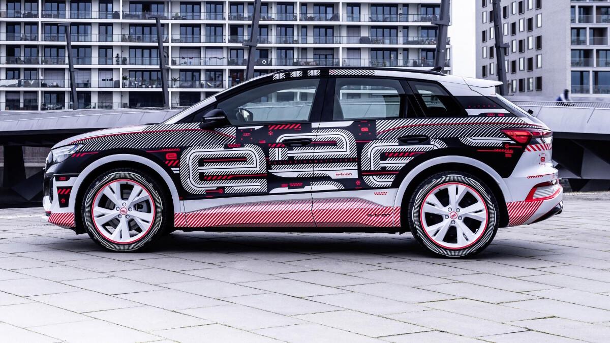 The Audi Q4 e-tron Profile View