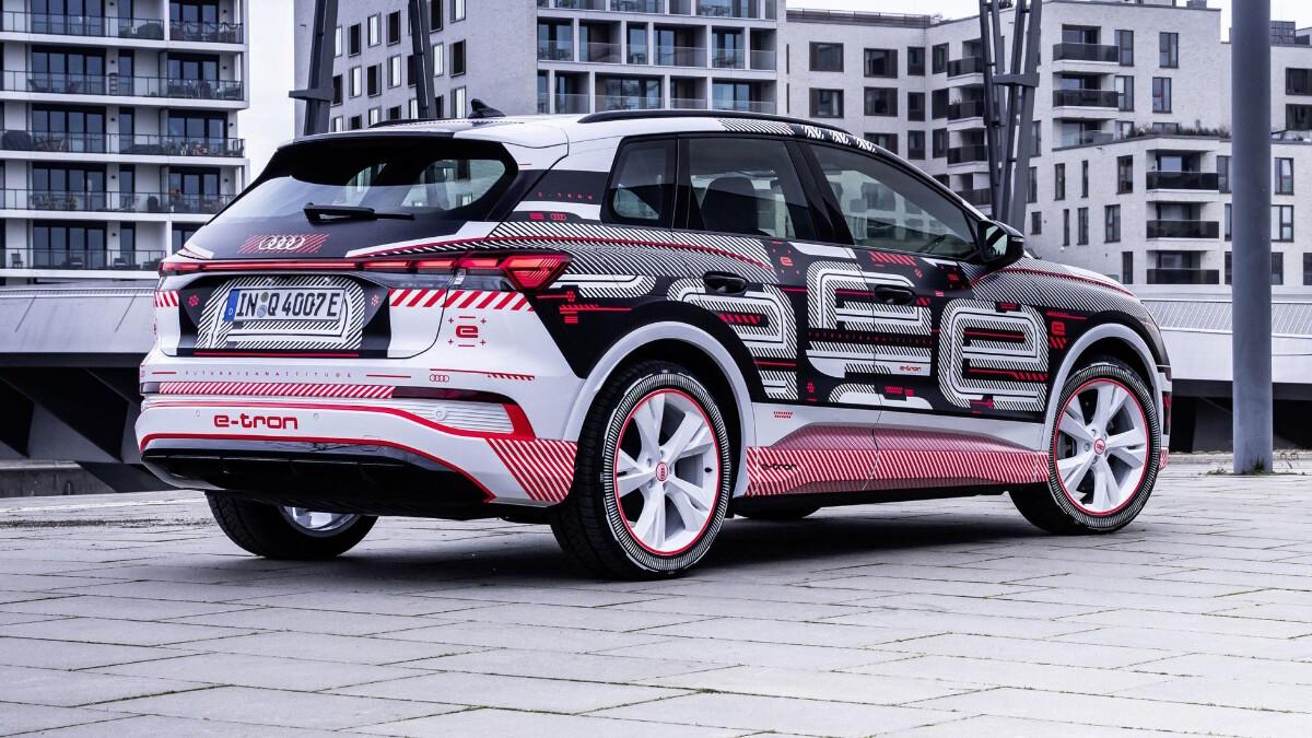 The Audi Q4 e-tron Alternative Rear View