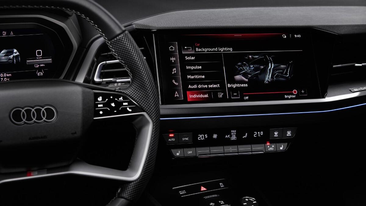 The Audi Q4 e-tron Media Control Panel