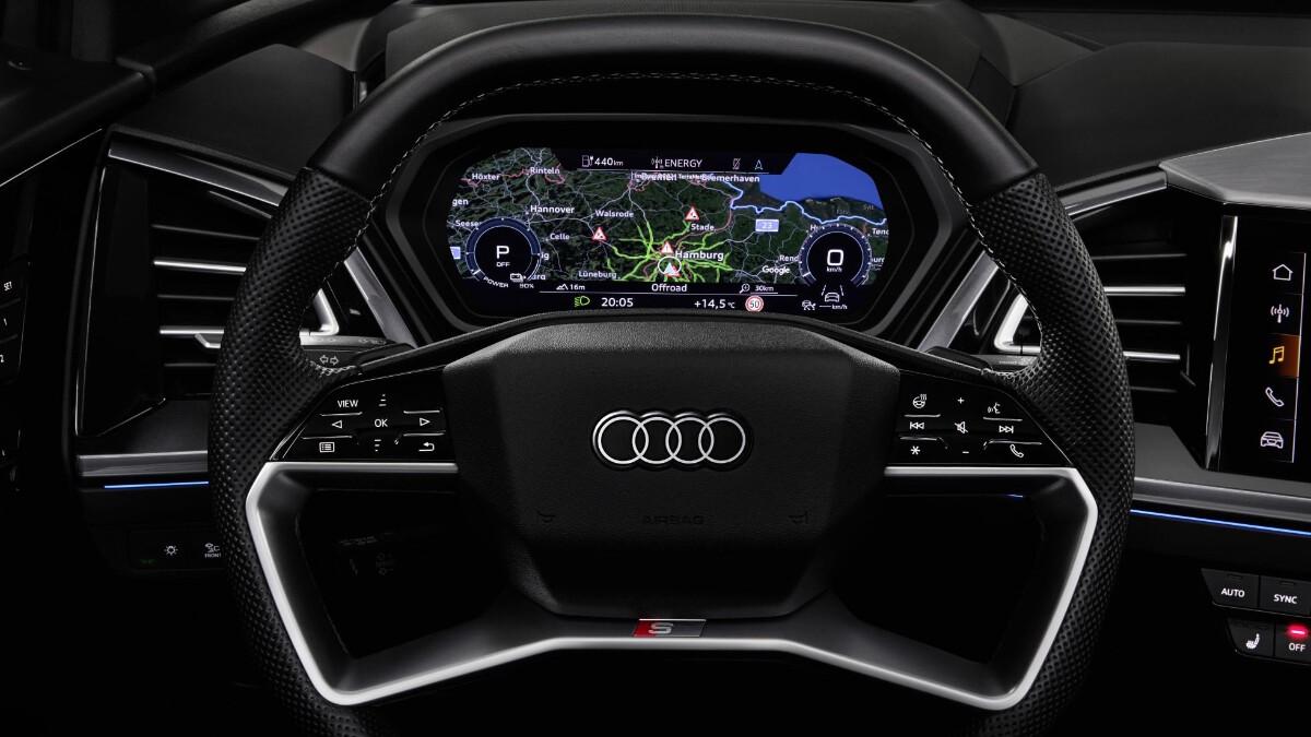The Audi Q4 e-tron Steering Wheel