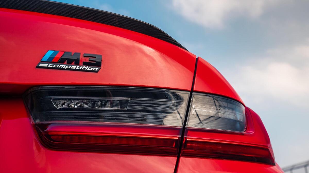 The BMW M3 Rear Emblem Close Up