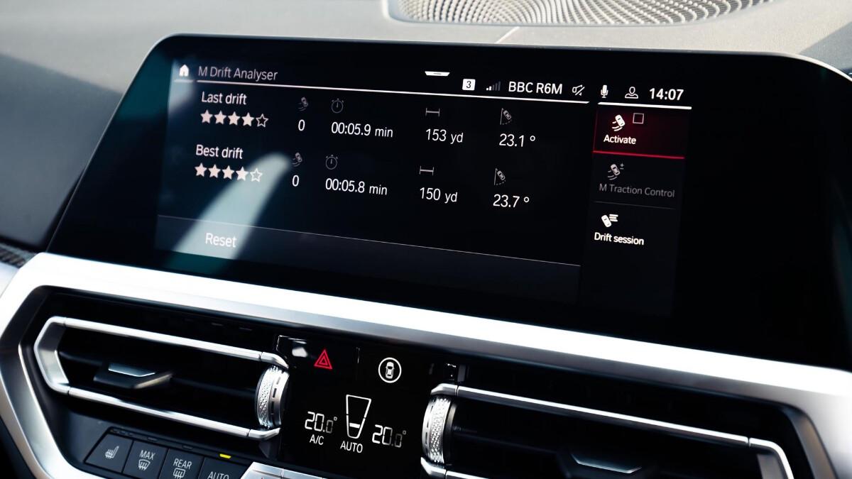The BMW M3 Media Controls