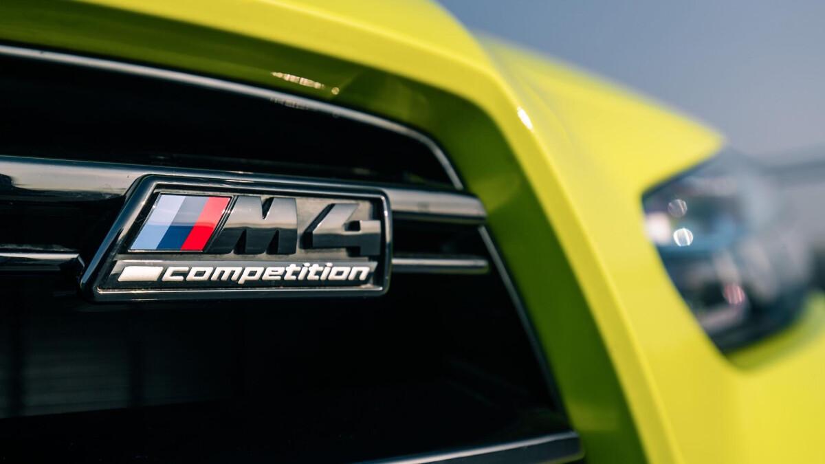 The BMW M4 Competition Emblem